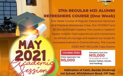 REGULAR MZI ALUMNI REFRESHERS COURSE