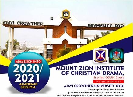 Mount Zion Drama School 2021
