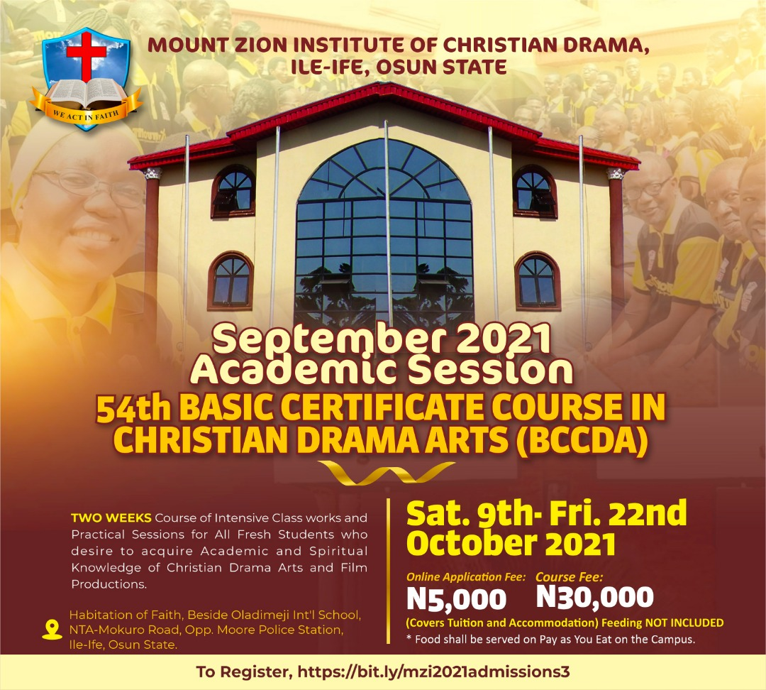 Mount Zion Diploma 2021 Admission